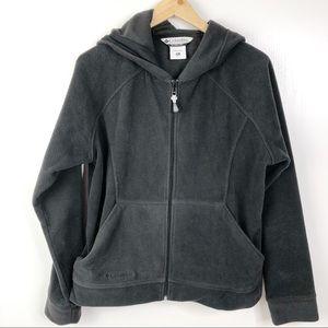 Columbia Black Full Zip Fleece Sweater XL
